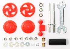 타미야,95402,TAMIYA, LD Stab Head Set 17mm Red